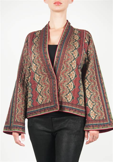 tribal pattern jackets etro quilted jacket in tribal pattern santa fe dry goods