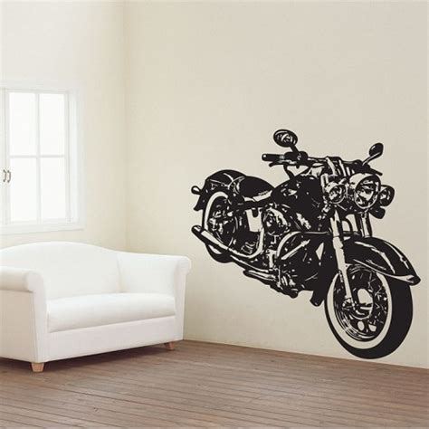 motorbike wall stickers motorcycle vector graphic vinyl wall decal