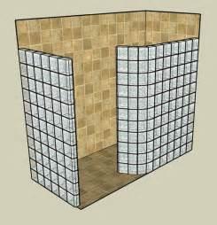 glass block shower kits walk in shower kits doorless