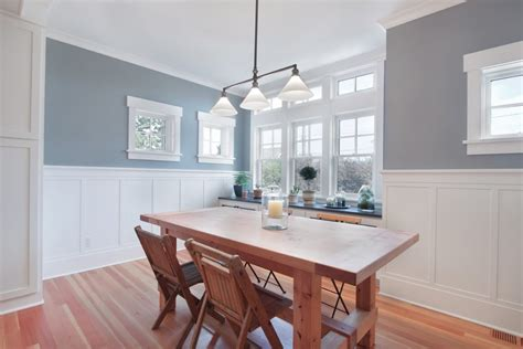 dining room wainscoting wainscoting dining room craftsman with gray walls white