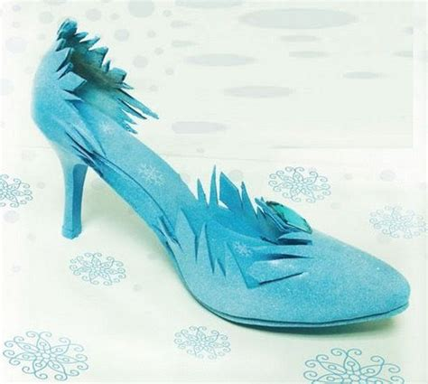 frozen high heels sh300 frozen snow elsa costume shoes