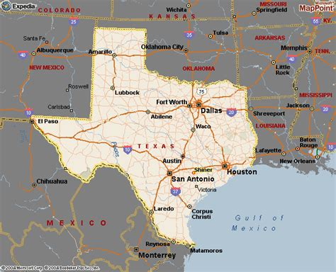 map of the texas texas map
