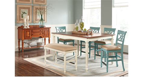 adelson chocolate 5 pc counter height dining room dining ocean blue grove white 5 pc counter height dining room