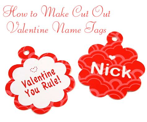 valentines name glitter cut out name tags pretty handy