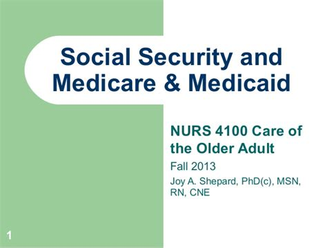 social security and medicare medicaid fall 2013 abridged