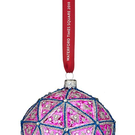 new year 2018 ornaments waterford times square replica ornament 2018