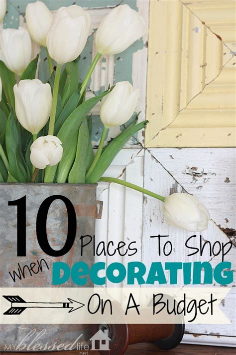 Home Decorating On A Budget | 10 places to shop for decorating your home on a budget