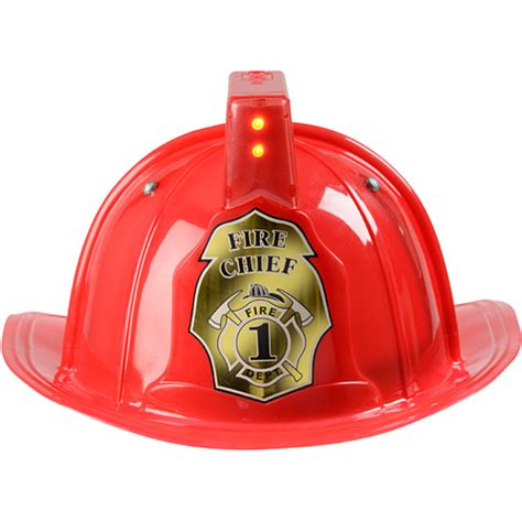 firefighter lights and sirens jr fire fighter helmet only red adj youth size with