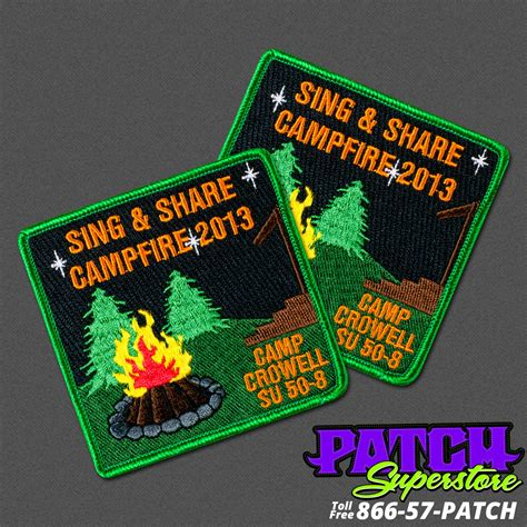 custom patches embroidered patches patchsuperstore girl scouts sing share cfire patches patchsuperstore