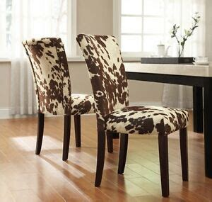Faux Cowhide Furniture - new 2 set cowhide faux upholstered accent dining room side