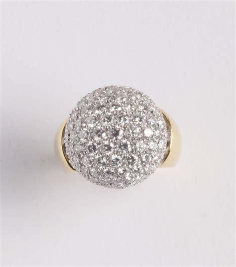 pave di diamanti anello con pav 233 di diamanti argenti e gioielli antichi e