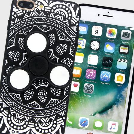 Fidget Spinner Smartphone For Iphone 7 Plus Berkualitas coque iphone 7 plus olixar fidget spinner noir blanc avis