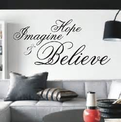 Amp believe wall art sticker quote 4 sizes bedroom wall stickers