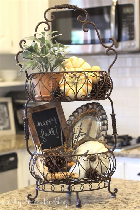 kitchen basket ideas fall decorations kitchen simply domestic
