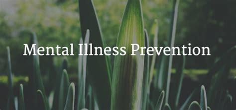 Modification Mental Illness by Mental Illness Prevention