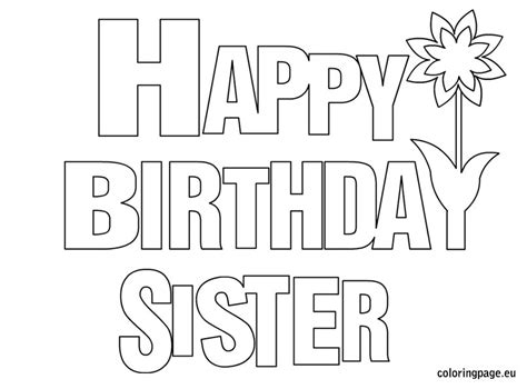 happy birthday best friend coloring page happy birthday sister coloring page coloring pinterest