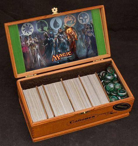 magic decks magic the gathering wooden deck box custom image the