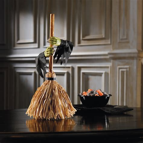 Motorized Decorations by Tabletop Motorized Witch S Broom The Green