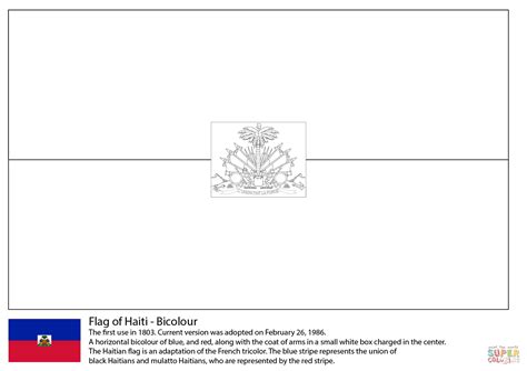 flag of haiti coloring page free printable coloring pages