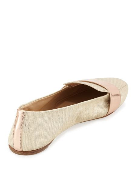 reed krakoff loafers reed krakoff glittery canvas loafer with mirrored leather