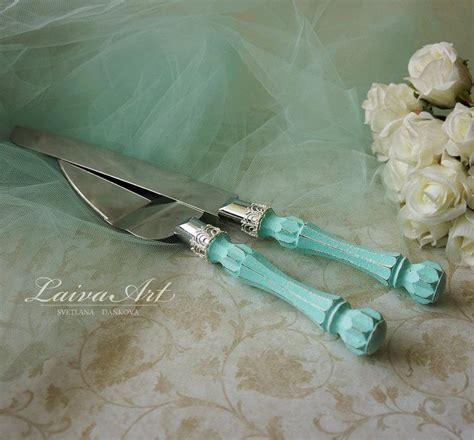 Mint Wedding Cake Server Set & Knife Cake Cutting Set