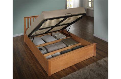 Lift Up Storage Bed Oak by Birlea 4ft Small Oak Ottoman Lift Wooden