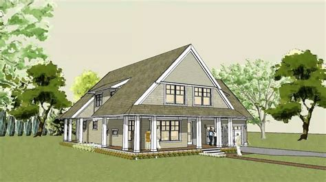 modern cabin plans cottage modern house plan