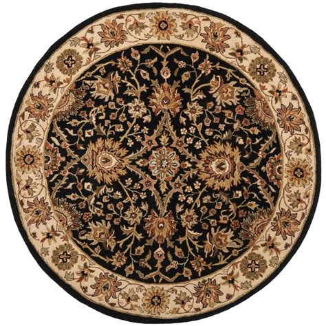 Safavieh Antiquity Black 6 Ft X 6 Ft Round Area Rug 6 Foot Area Rugs