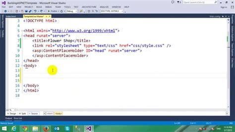html templates for asp net building asp net template from html template youtube