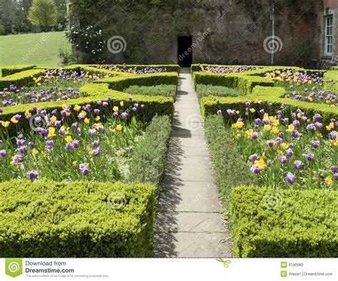 Low Country House Plans formal english garden in spring stock photo image of