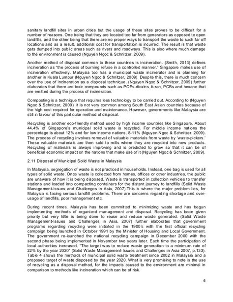 Waste Management Essay by Solid Waste Management