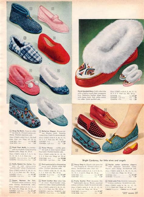 1950s slippers 1950s socks slippers styles trends pictures