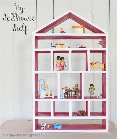 white dollhouse wall shelf diy projects