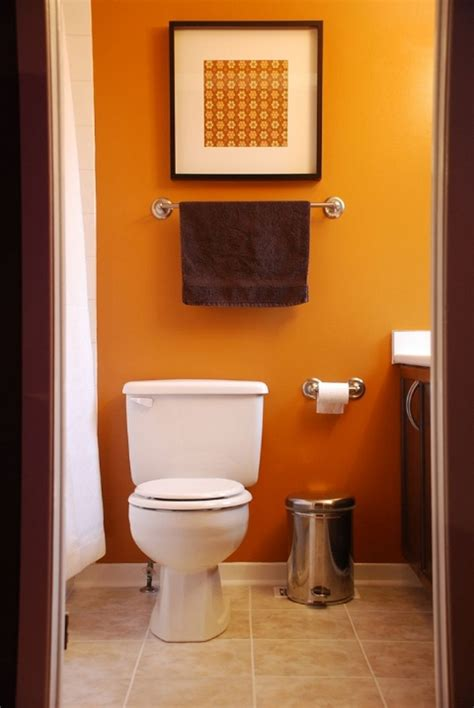 Bathroom Wall Color Ideas by Orange Home Decor Images