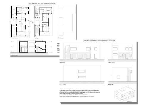complet maison plan maison moderne 125 dossier complet plans coupe