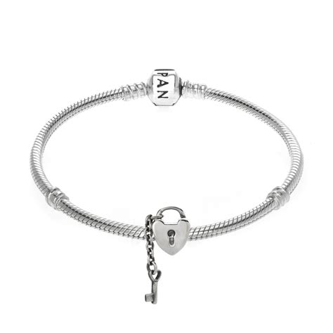 Pandora I Charm Sterling Silver P 644 pandora sterling silver lock key charm 790971 greed jewellery
