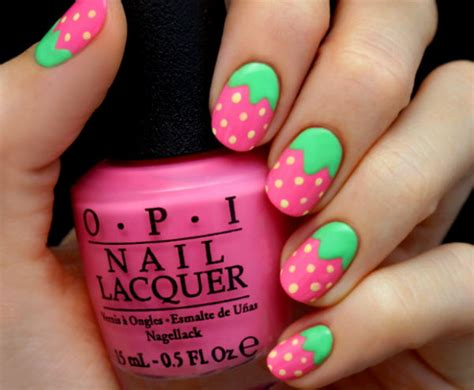 tutorial nail art strawberry easy strawberry nail art design tutorial nail designs