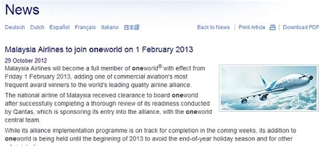 along with the gods malaysia release malaysian airlines joins oneworld alliance on february 1