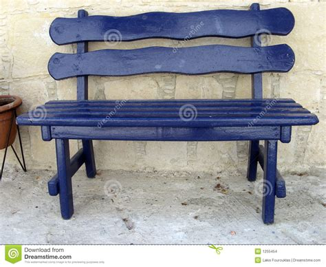 bench stock blue bench stock images image 1255454