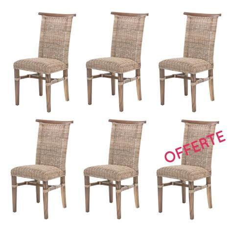 Chaise Salle A Manger Rotin by Lot De 6 Chaises De Salle 224 Manger En Rotin Chaise En
