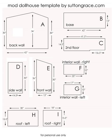 free dollhouse floor plans woodworking wooden doll house patterns plans pdf download