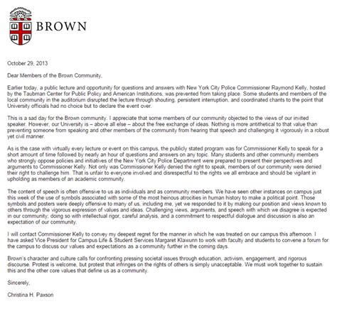 Cancellation Letter For An Event Arely M Diaz Loza Remembering Race At Brown