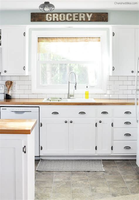 diy farmhouse kitchen makeover for 5000 including quick kitchen makeovers on a dime the budget decorator