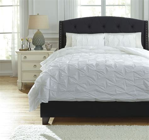 queen white comforter rimy white queen comforter set from ashley q756013q