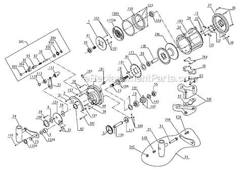 penn reel parts diagram penn 50tw parts list and diagram ereplacementparts