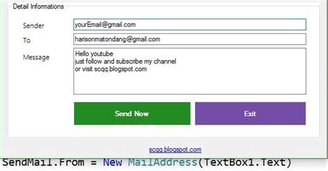Belajar Pemrograman Populer 3 In 1 Java Vb Dan Php Edy Winarno vb net simple application send mail smtpclient gmail source code sector code