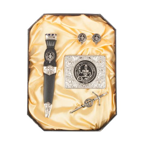 Gift Items Starting With Letter J hos pewter scottish boxed clan gift set names starting