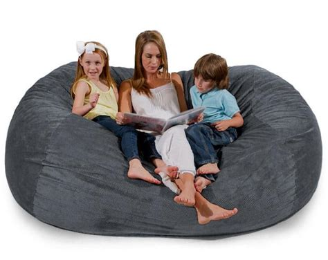 cordaroy s bean bag bed cordaroys bean bag shark tank bed love seat futon sac foam couch grey chenille ebay