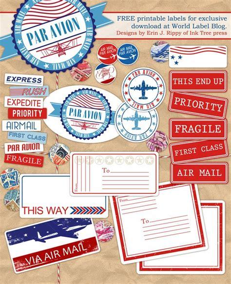 Luftpost Aufkleber Drucken by Pin Printables Kathy