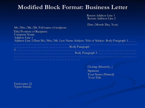 Business Letters Ppt Presentation 28 Images Business Sle Business Presentation
